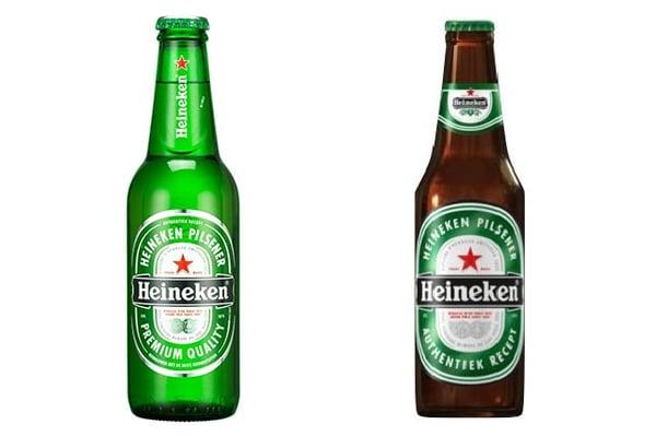NeuroPackaging-Vergelijk-oude-en-nieuwe-verpakkingen-Heineken-flesje-nieuw-en-oud
