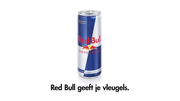 Het merk Red Bull geeft vleugels, niet het drankje